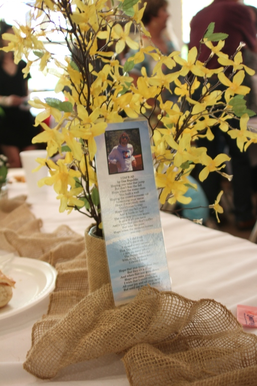 Bryce bookmark and yellow flowers IMG_7115
