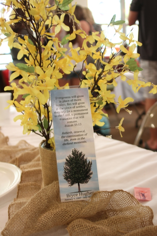 Bryce bookmark and yellow flowers IMG_7117